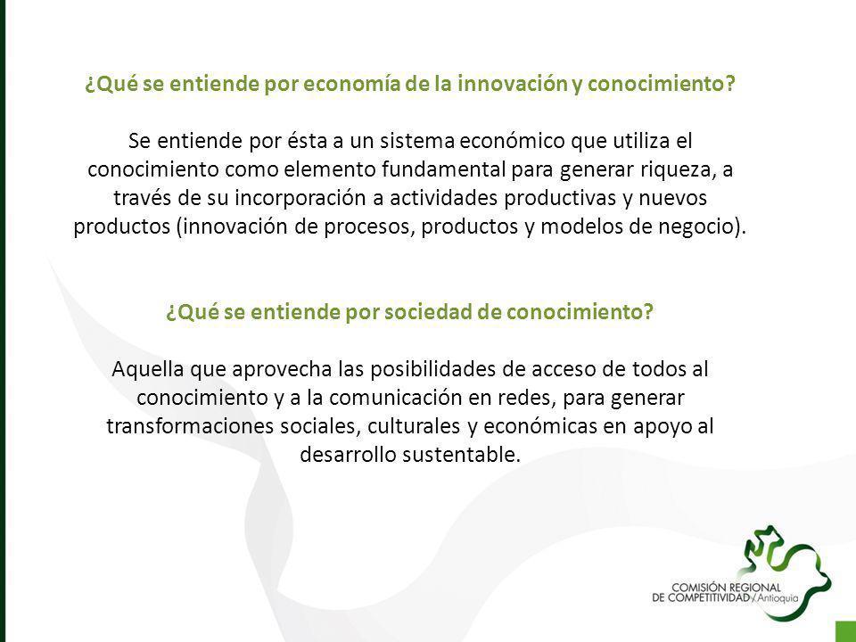 ¿Qué se entiende por economía de la innovación y conocimiento? Se entiende por ésta a un sistema económico que utiliza el conocimiento como elemento f