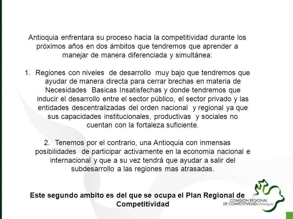 Antioquia enfrentara su proceso hacia la competitividad durante los próximos años en dos ámbitos que tendremos que aprender a manejar de manera difere