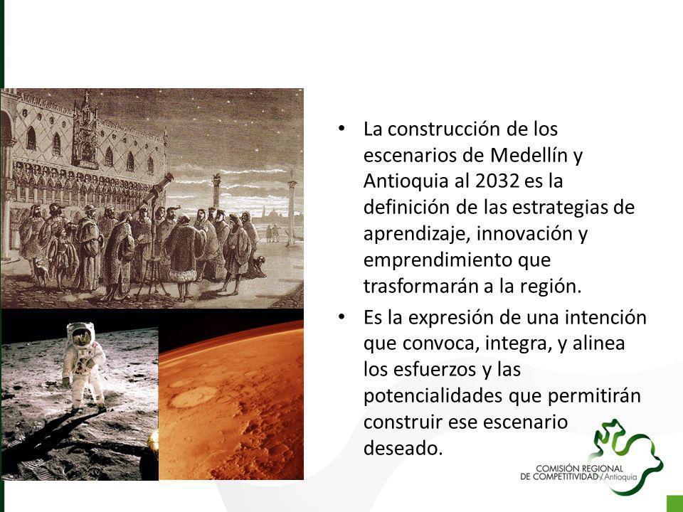 La construcción de los escenarios de Medellín y Antioquia al 2032 es la definición de las estrategias de aprendizaje, innovación y emprendimiento que