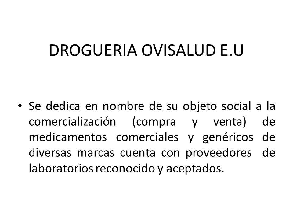 ANÁLISIS FINANCIERO DE LA DROGUERIA OVISALUD EU ELIANA CABALLERO ARSOLIS TATIANA ARIAS CLAUDIA LERECHS UNIVERSIDAD DE CÓRDOBA (ODESAD) X SEMESTE ADMIN
