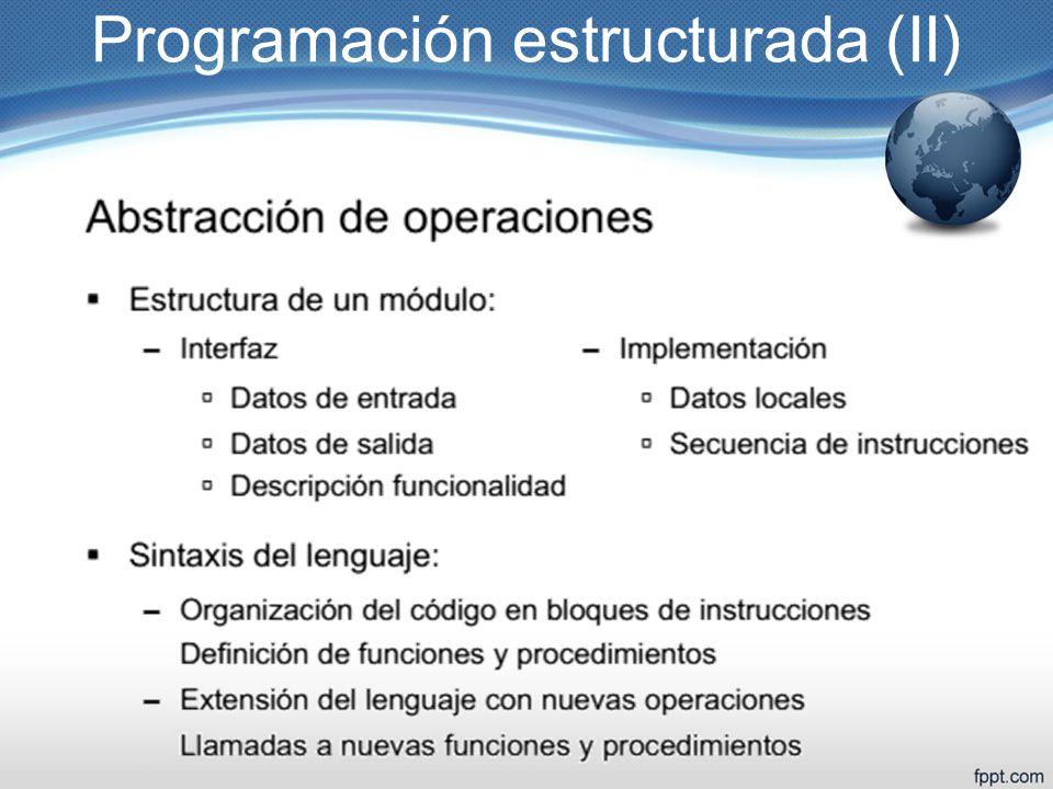 Programación estructurada (II)
