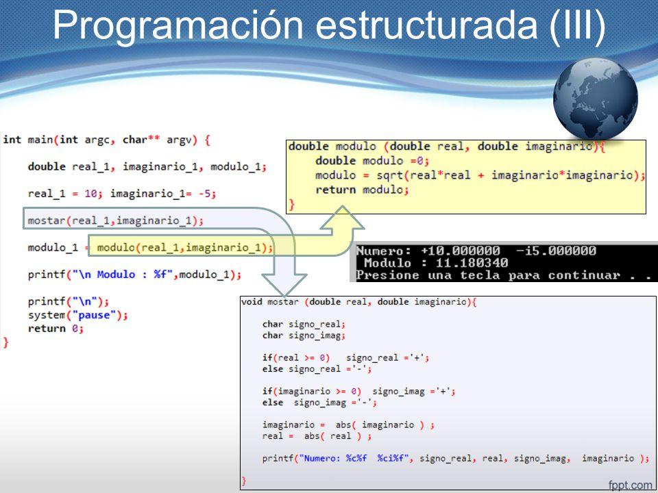 Programación estructurada (III)