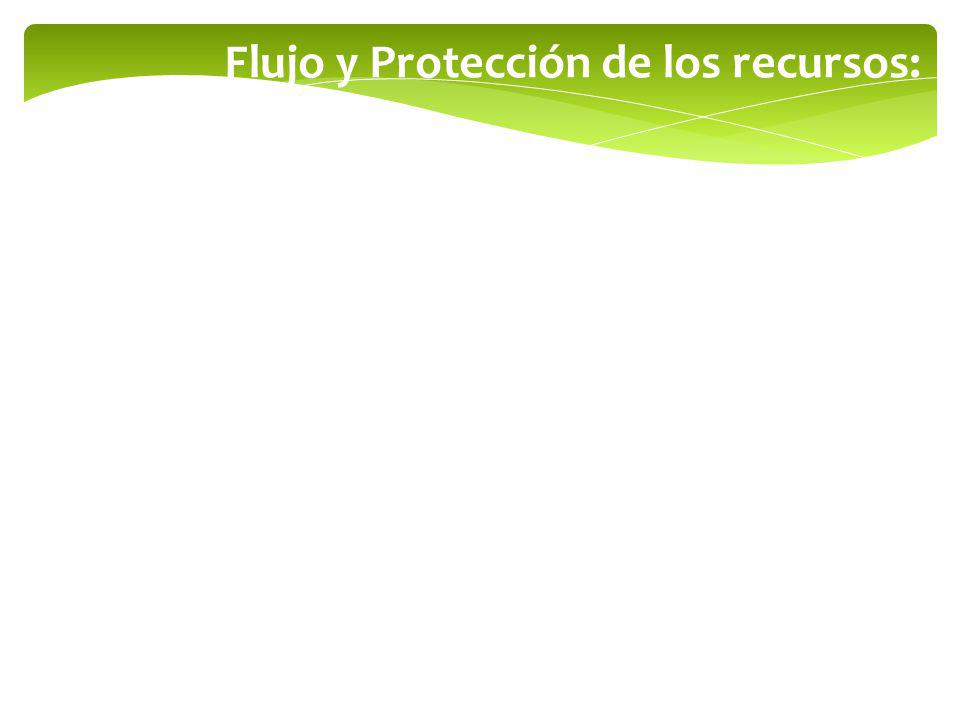 Flujo y Protección de los recursos: