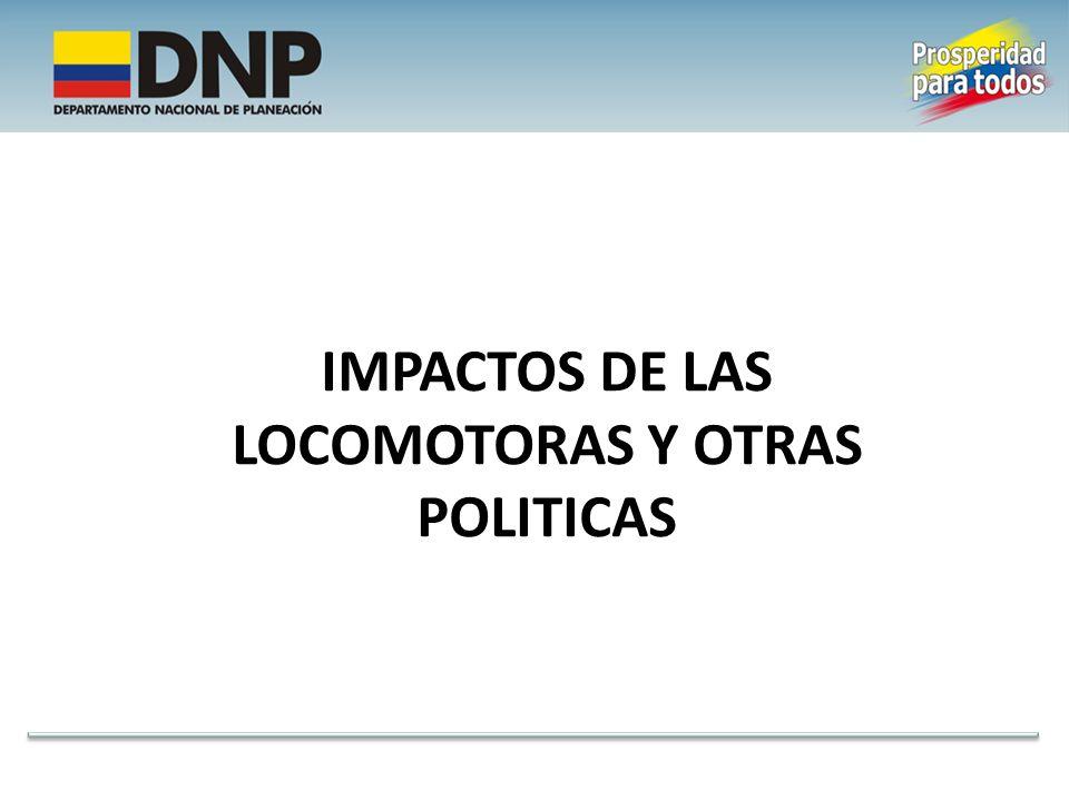 IMPACTOS DE LAS LOCOMOTORAS Y OTRAS POLITICAS