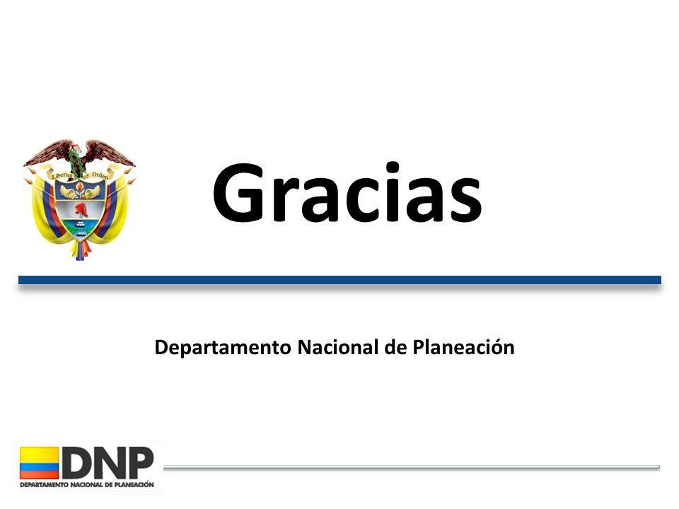 Gracias Departamento Nacional de Planeación