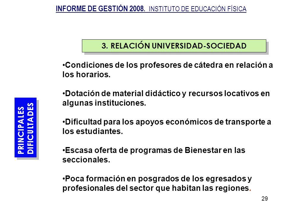 29 PRINCIPALES DIFICULTADES PRINCIPALES DIFICULTADES Condiciones de los profesores de cátedra en relación a los horarios. Dotación de material didácti