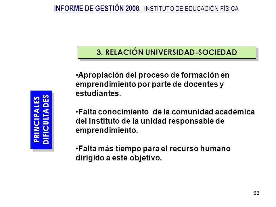 33 PRINCIPALES DIFICULTADES PRINCIPALES DIFICULTADES Apropiación del proceso de formación en emprendimiento por parte de docentes y estudiantes. Falta