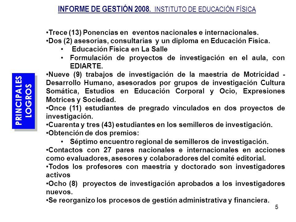 16 ACCIONES DE MEJORAMIENTO Ofrecer los programas de Especialización: Actividad Física y Salud Administración Deportiva en la región de Urabá.