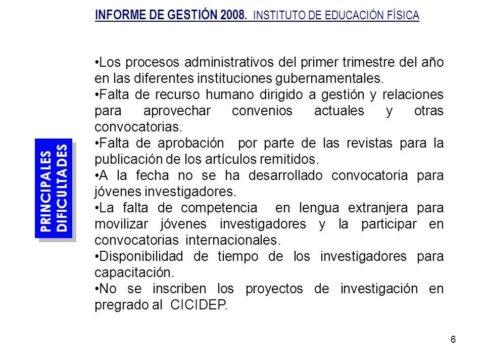 7 ACCIONES DE MEJORAMIENTO Precisar con los grupos de investigación y la entidades externas los intereses de cooperación.