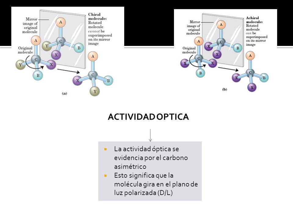CONFIGURACION ESPACIAL O Se define por la ubicación de los grupos hidroxilos de los carbonos quirales (CIS/TRANS)