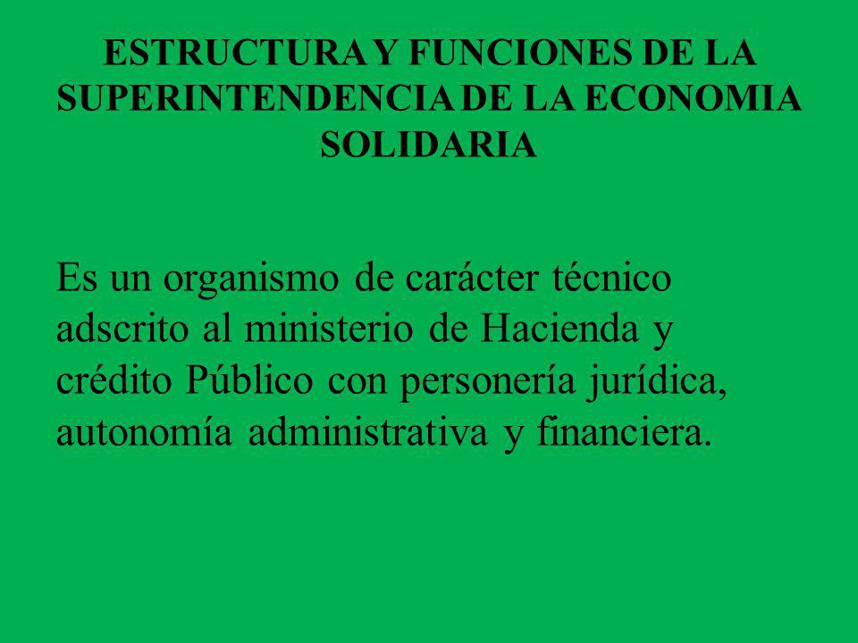 OBJETIVOS Ejercer el control, inspección y vigilancia sobre las entidades pertenecientes al sector de economía solidaria.