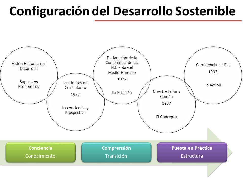 Configuración del Desarrollo Sostenible Visión Histórica del Desarrollo Supuestos Económicos Conferencia de Rio 1992 La Acción Los Limites del Crecimi