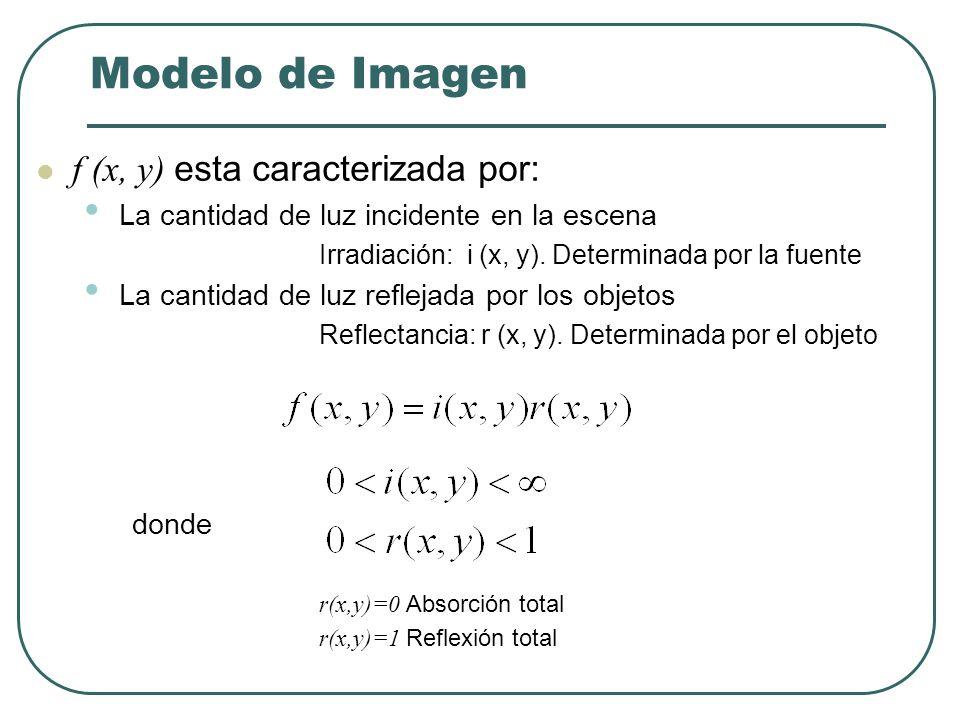 Modelo de Imagen Imagen: Función bidimensional de la luz y la intensidad.
