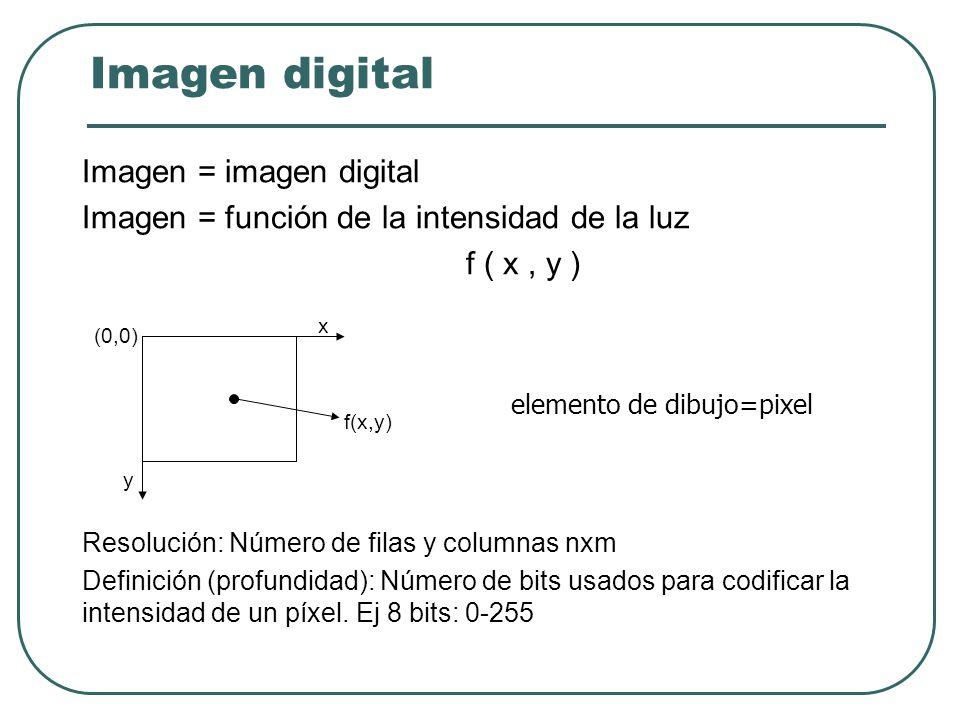¿Qué es una imagen digital? Una matriz de puntos