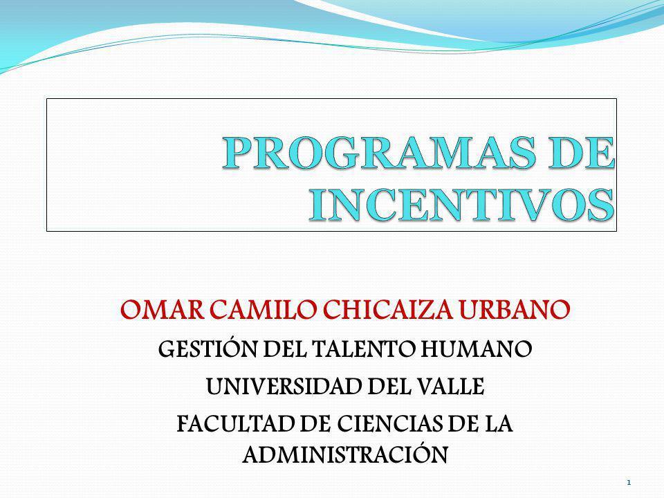 11 OMAR CAMILO CHICAIZA URBANO GESTIÓN DEL TALENTO HUMANO UNIVERSIDAD DEL VALLE FACULTAD DE CIENCIAS DE LA ADMINISTRACIÓN
