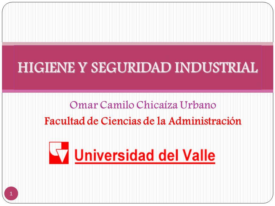 Omar Camilo Chicaíza Urbano Facultad de Ciencias de la Administración HIGIENE Y SEGURIDAD INDUSTRIAL 1 1
