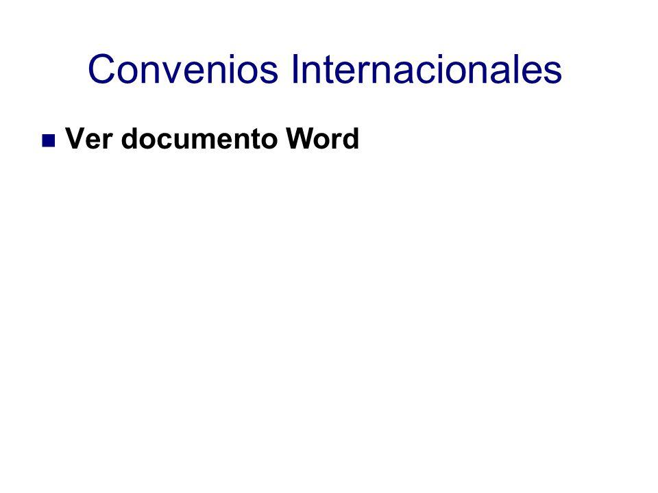 Convenios Internacionales Ver documento Word