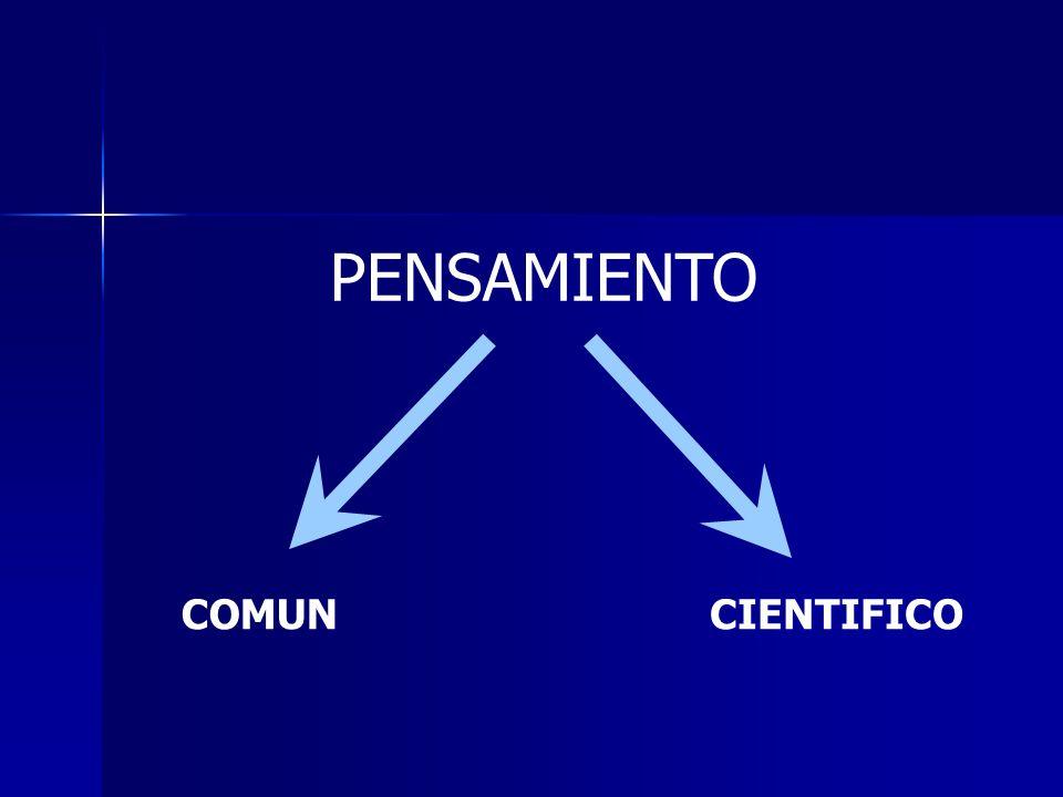 PENSAMIENTO COMUNCIENTIFICO