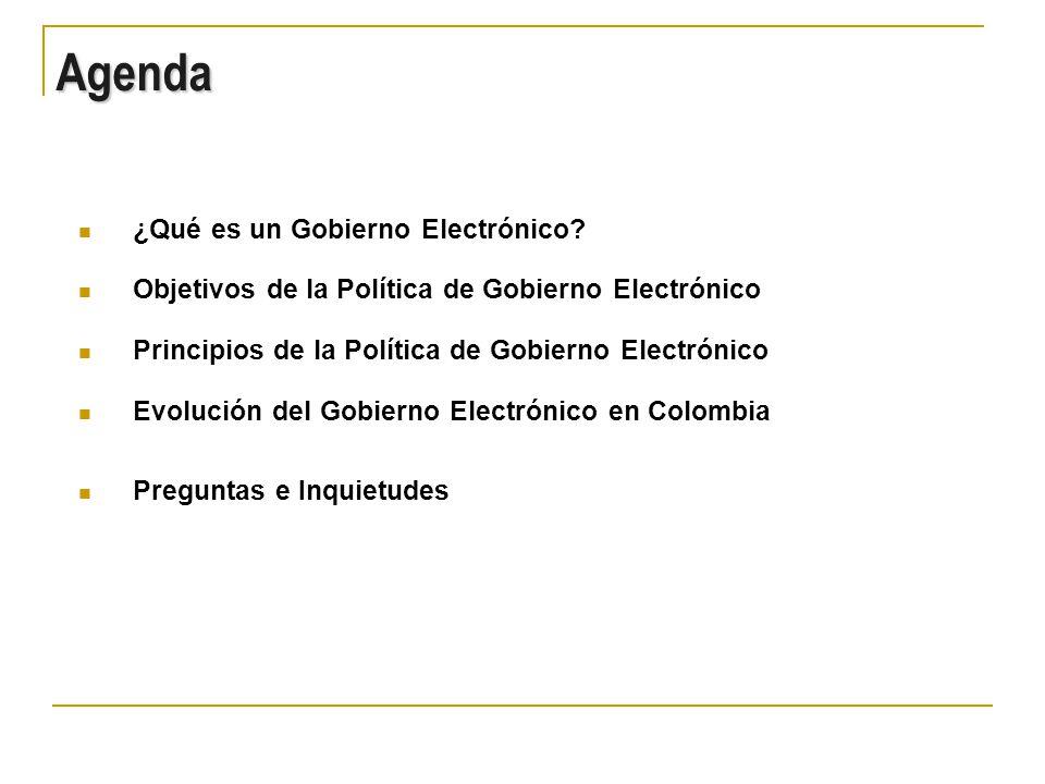 www.gobiernoenlinea.gov.co es el punto de acceso integrado en Internet a toda la información, servicios y trámites que las Entidades Públicas Nacionales, Departamentales y Territoriales ofrecen en sus propios Sitios en Internet.