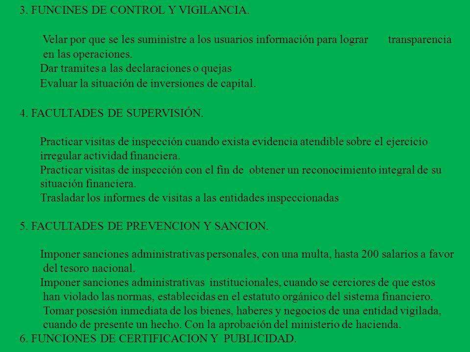 3. FUNCINES DE CONTROL Y VIGILANCIA.