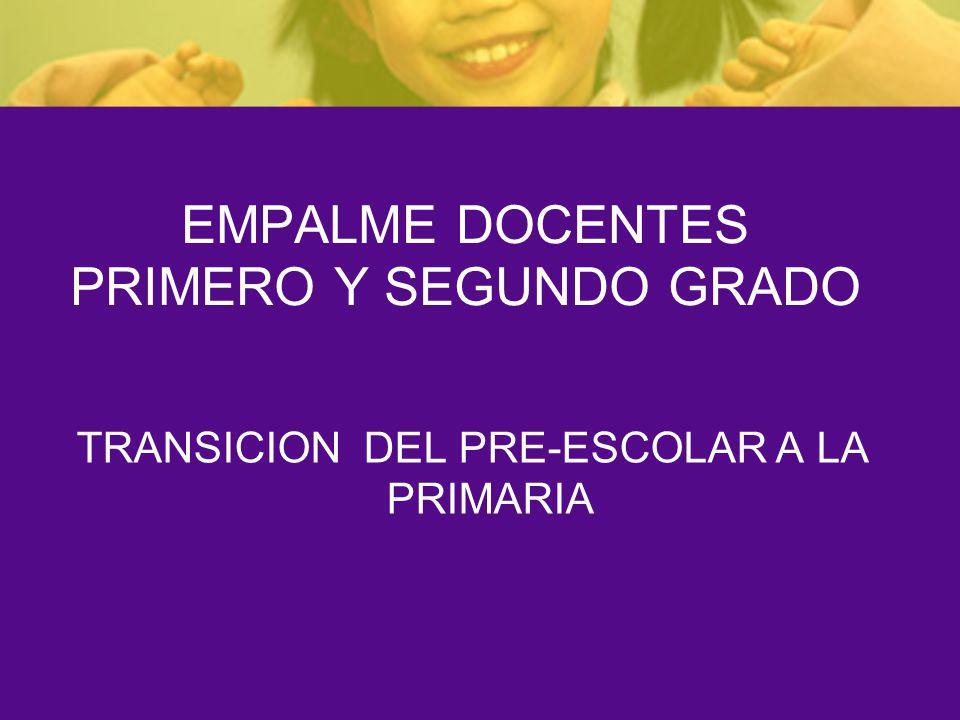 EMPALME DOCENTES PRIMERO Y SEGUNDO GRADO TRANSICION DEL PRE-ESCOLAR A LA PRIMARIA