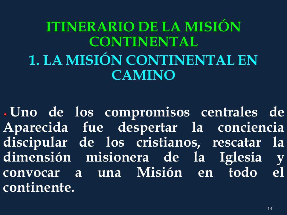 13 LA MISIÓN ES IR A TODOS E INVOLUCRADOS TODOS La Misión, tarea de todos y para todos: Esta firme decisión misionera debe impregnar todas las estruct
