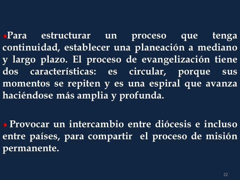 21 4.2 ACCIONES PARA FORTALECER LA CONVERSIÓN PASTORAL Aparecida afirma que : Esta firme decisión misionera debe impregnar todas las estructuras ecles