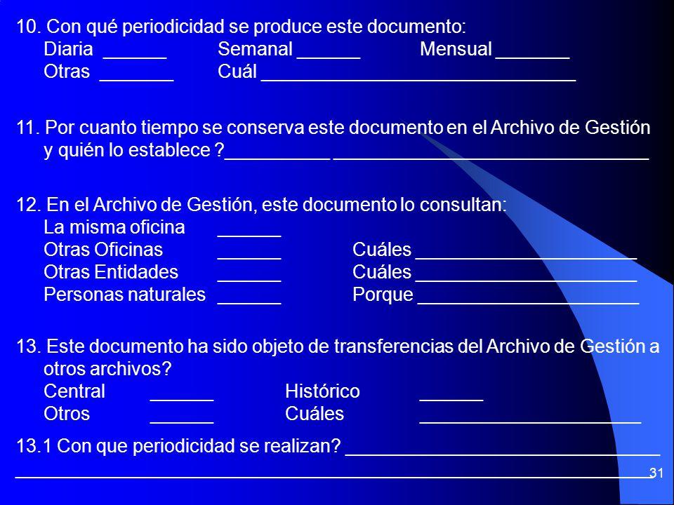 30 5. Normas que regulan la producción, el trámite y la conservación del documento: ____________________________________________ 6. TRAMITEOriginal __