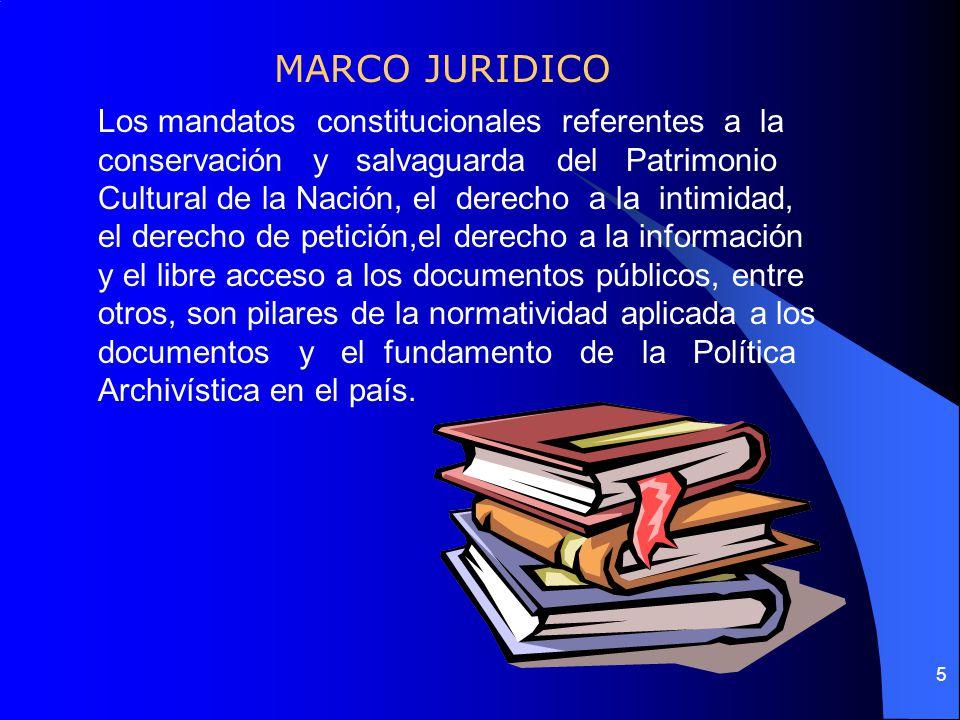4 LEY 80 DE 1989, crea el Archivo General de la Nación y establece el Sistema Nacional de Archivos. Funciones: Formular, orientar, coordinar y control
