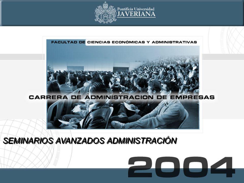 SEMINARIOS AVANZADOS ADMINISTRACIÓN