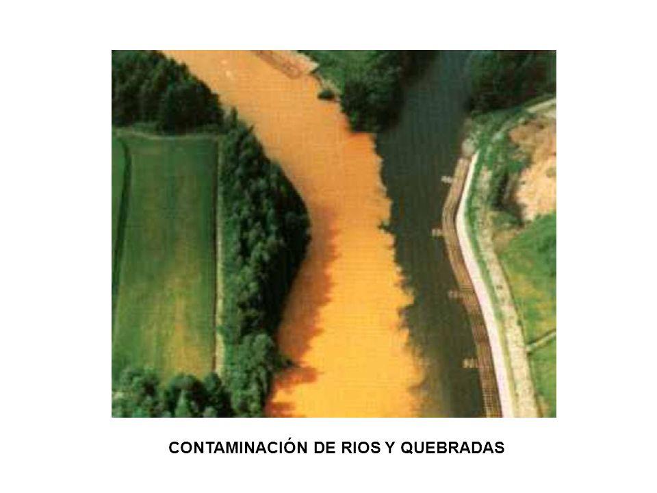 CONTAMINACIÓN DE RIOS Y QUEBRADAS