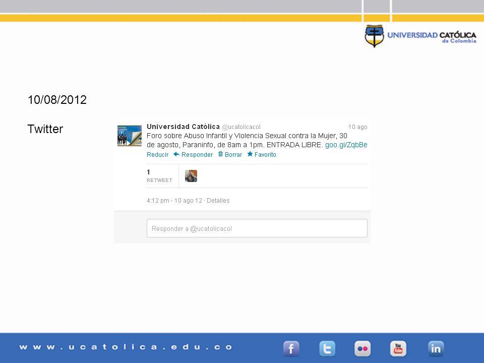 10/08/2012 Twitter