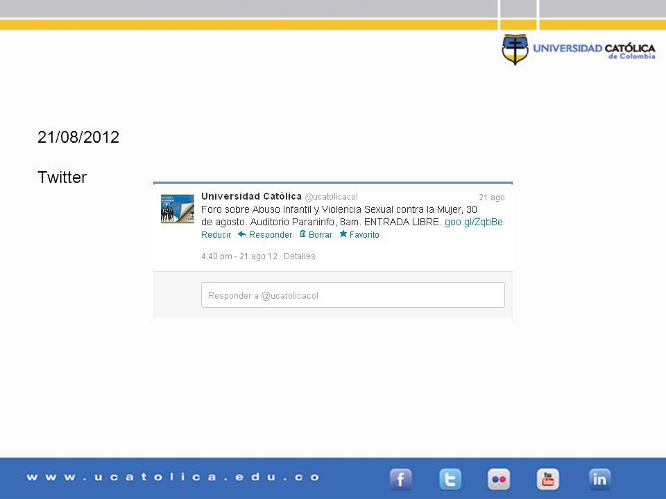 21/08/2012 Twitter
