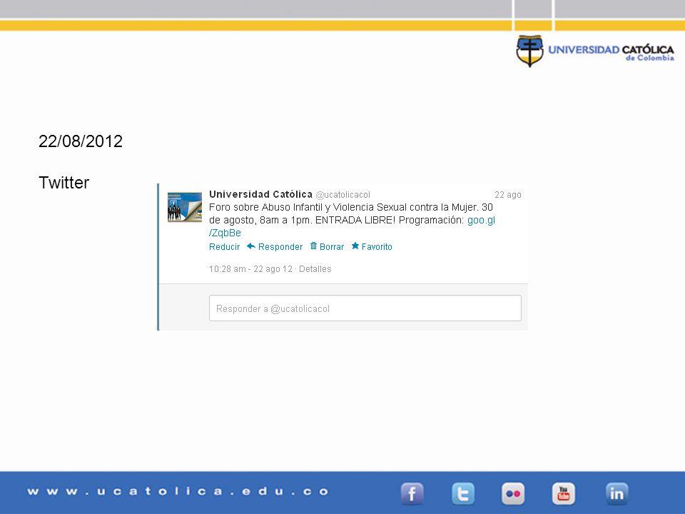 22/08/2012 Twitter
