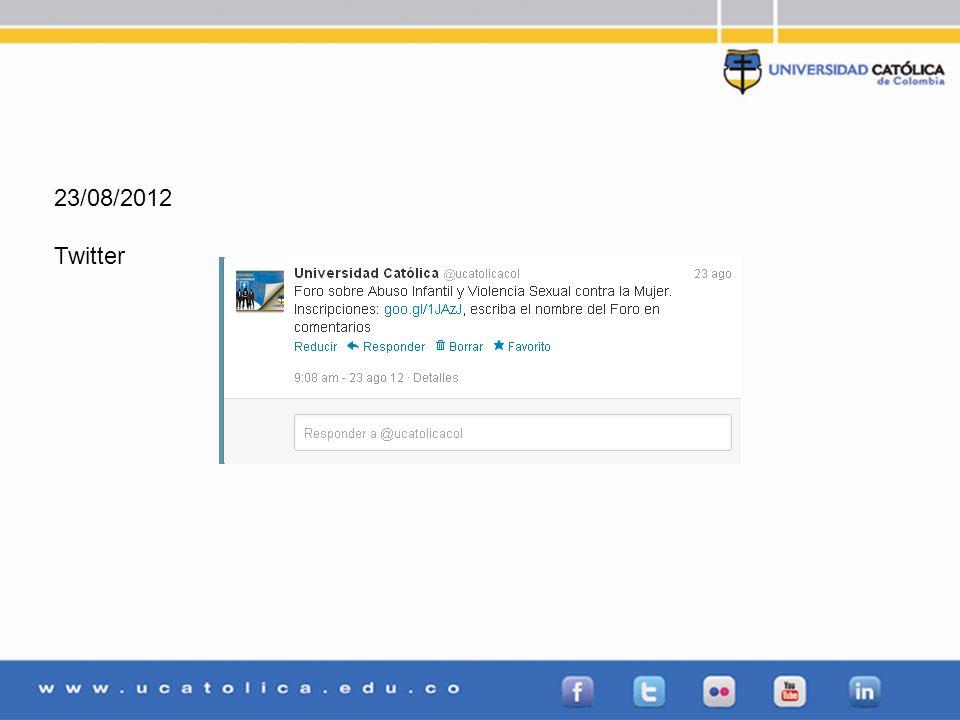 23/08/2012 Twitter