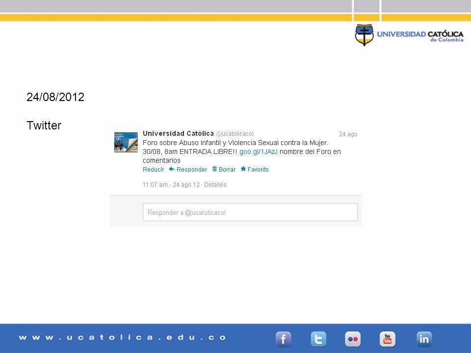 24/08/2012 Twitter