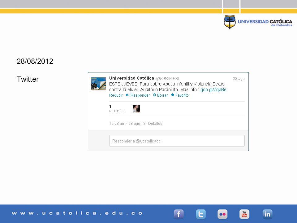28/08/2012 Twitter
