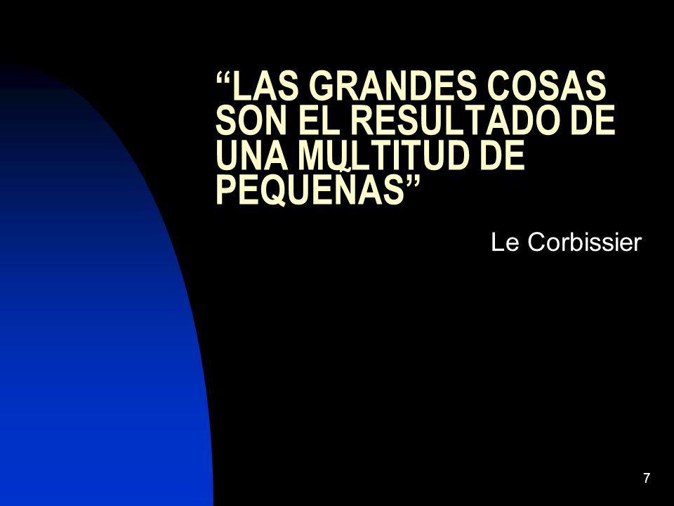 7 LAS GRANDES COSAS SON EL RESULTADO DE UNA MULTITUD DE PEQUEÑAS Le Corbissier
