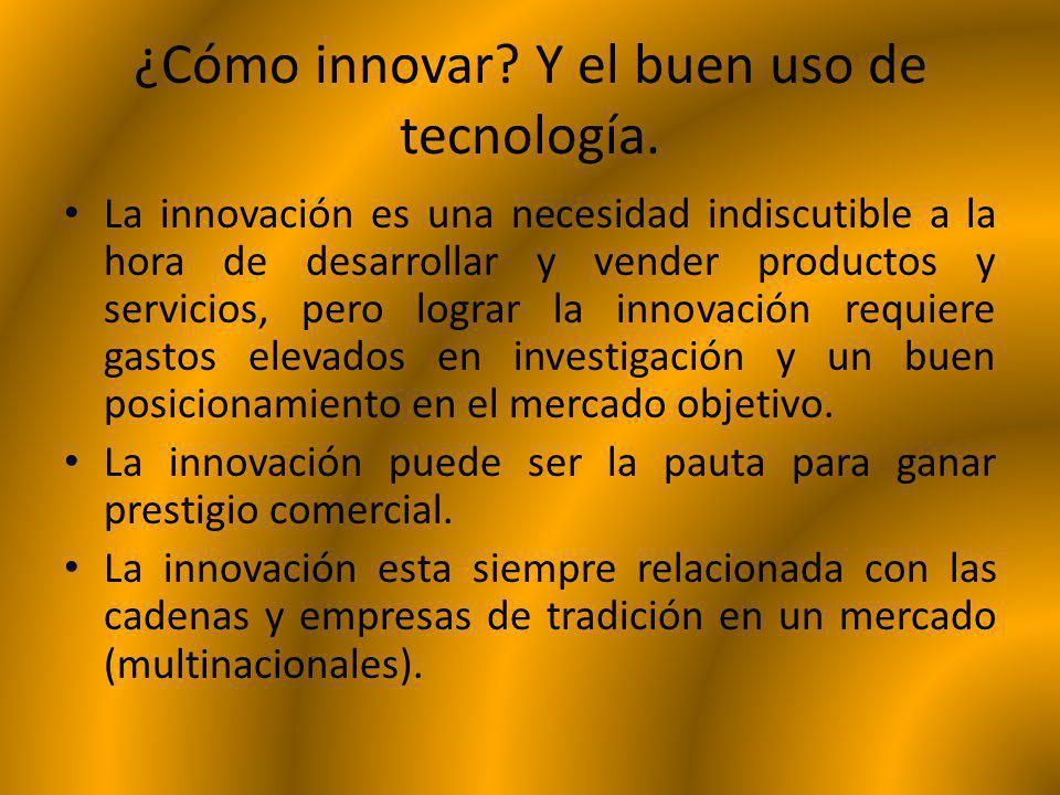 ¿Cómo innovar? Y el buen uso de tecnología. La innovación es una necesidad indiscutible a la hora de desarrollar y vender productos y servicios, pero