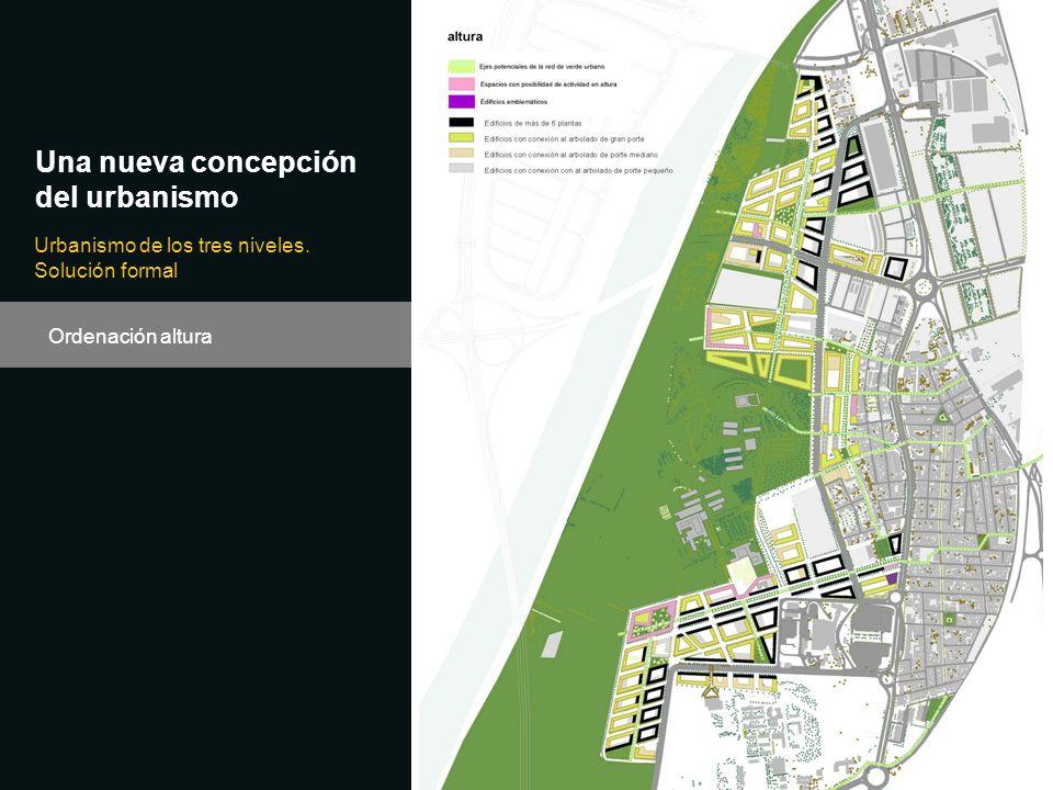 Ordenación altura Una nueva concepción del urbanismo Urbanismo de los tres niveles. Solución formal