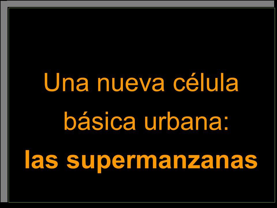 Una nueva célula básica urbana: las supermanzanas