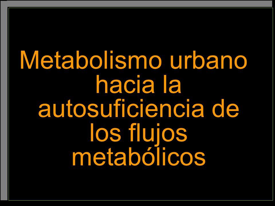 Metabolismo urbano hacia la autosuficiencia de los flujos metabólicos