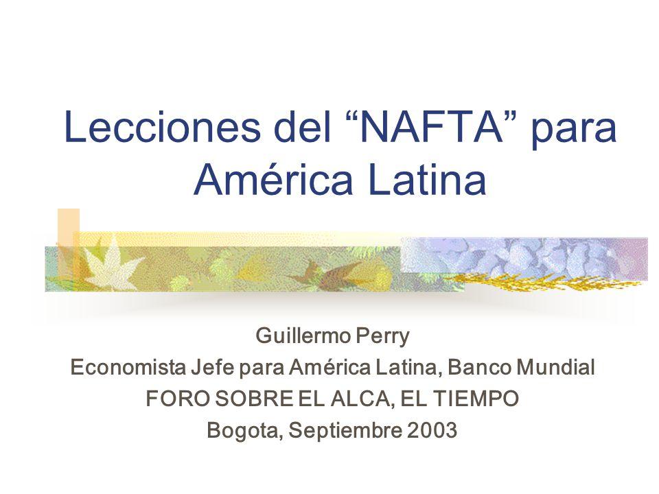 Los Hechos: México Antes y Después del NAFTA