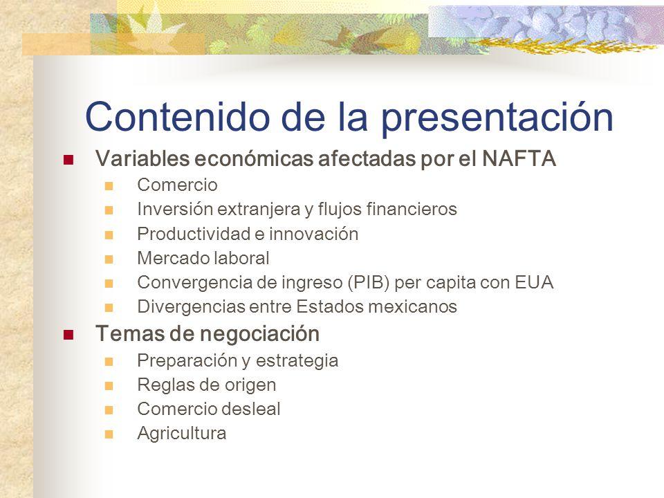 Brecha de calidad de las instituciones mexicanas (comparada con la de EU) se redujo después de NAFTA.