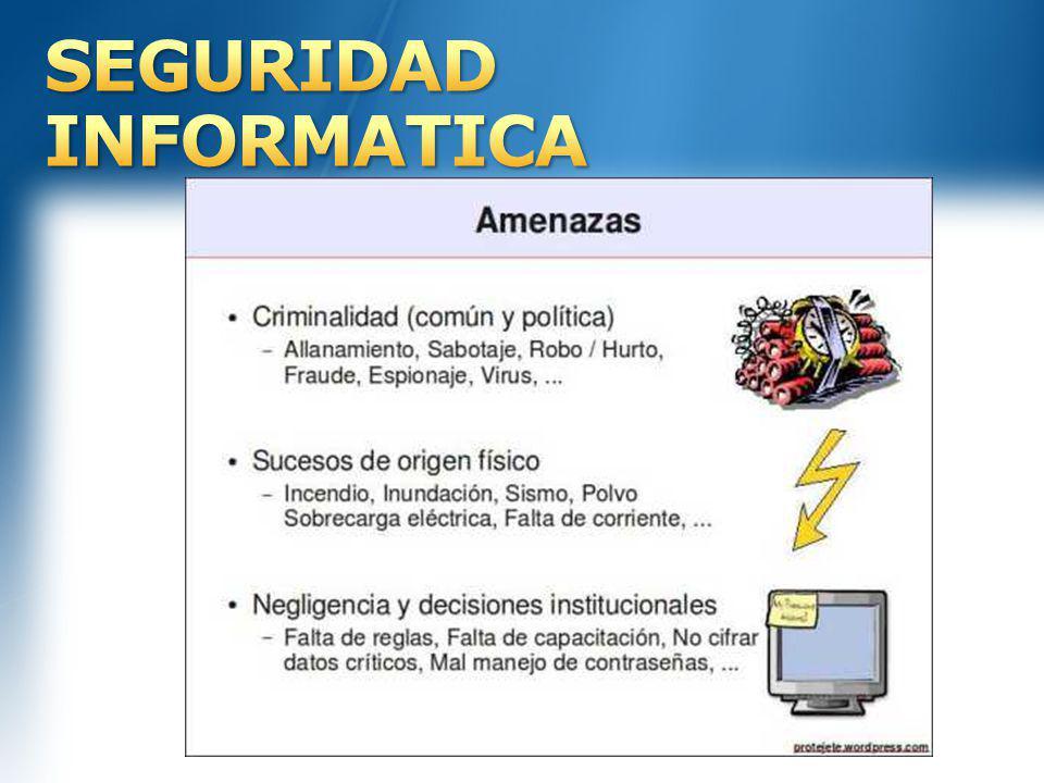 Amenazas y vulnerabilidades en la seguridad informática Técnicas para asegurar el sistema