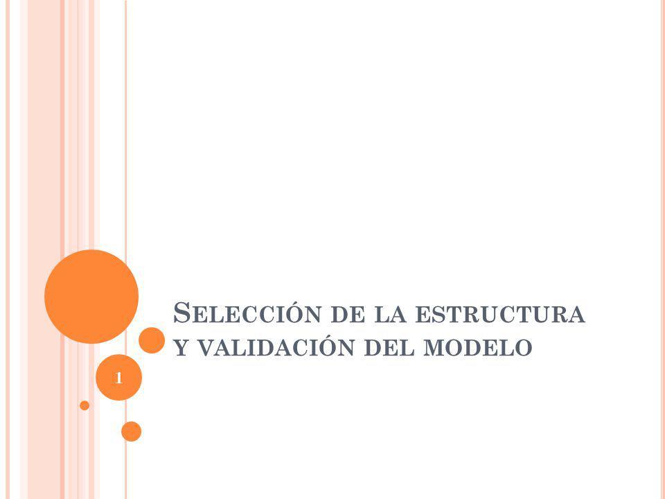 S ELECCIÓN DE LA ESTRUCTURA Y VALIDACIÓN DEL MODELO 1