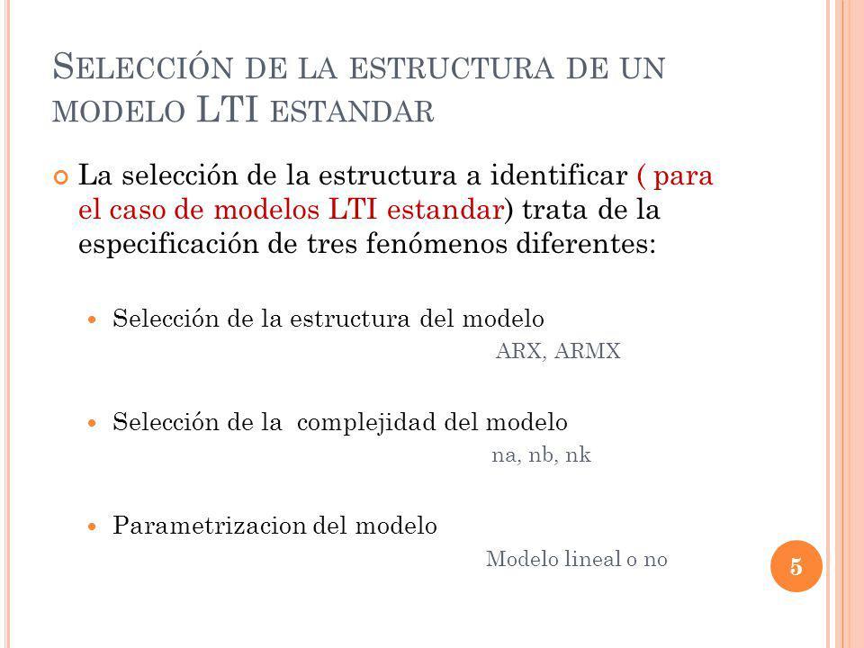 C OHERENCIA EN EL COMPORTAMIENTO DE ENTRADA - SALIDA Puede ser necesario recurrir a diferentes métodos de identificación y comparar los resultados obtenidos.