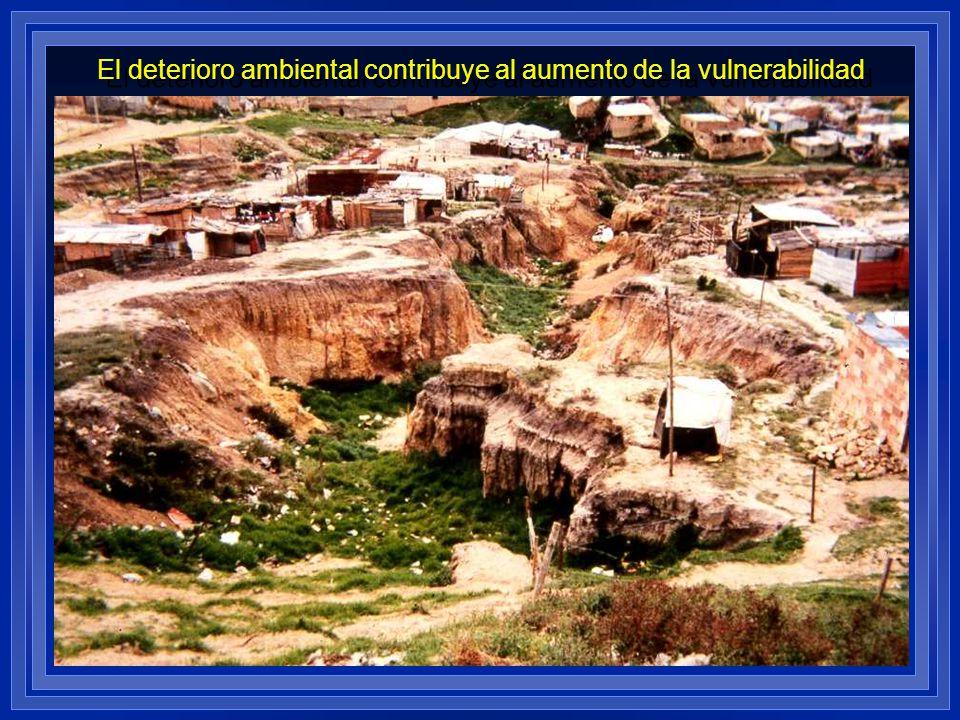 El deterioro ambiental contribuye al aumento de la vulnerabilidad