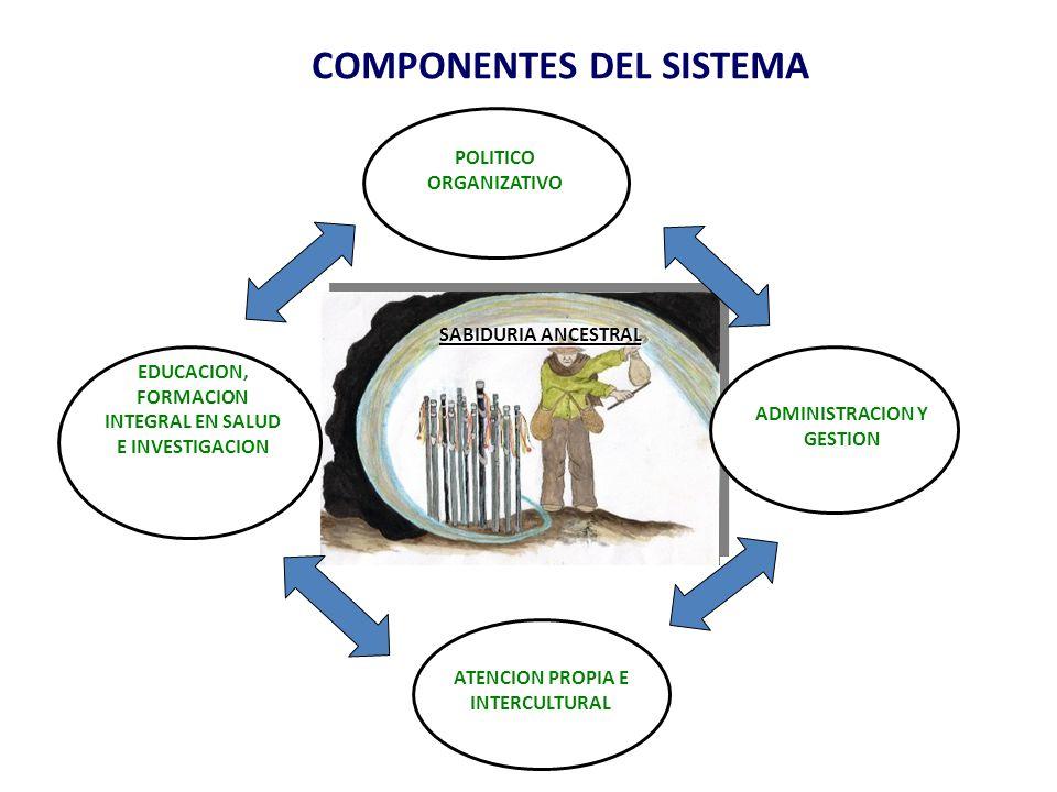 COMPONENTES DEL SISTEMA POLITICO ORGANIZATIVO EDUCACION, FORMACION INTEGRAL EN SALUD E INVESTIGACION ATENCION PROPIA E INTERCULTURAL ADMINISTRACION Y