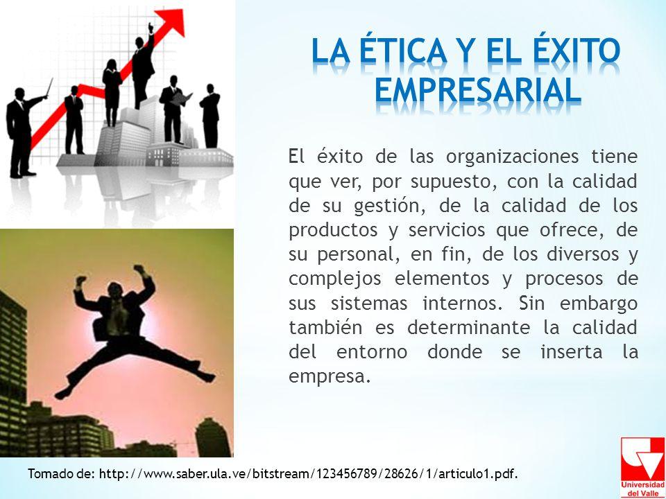 Tomado de: http://www.saber.ula.ve/bitstream/123456789/28626/1/articulo1.pdf. El éxito de las organizaciones tiene que ver, por supuesto, con la calid